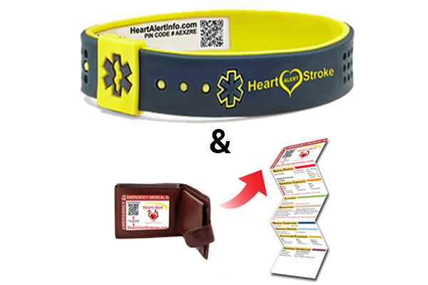 QR Coded Medical ID Bracelet System & Wallet Card system