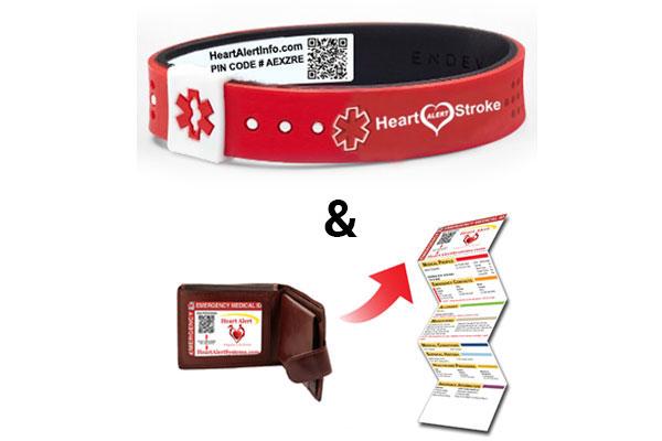 QR Coded Medical ID Bracelet System & Wallet Card system